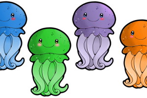 3 clipart jellyfish. Cute station