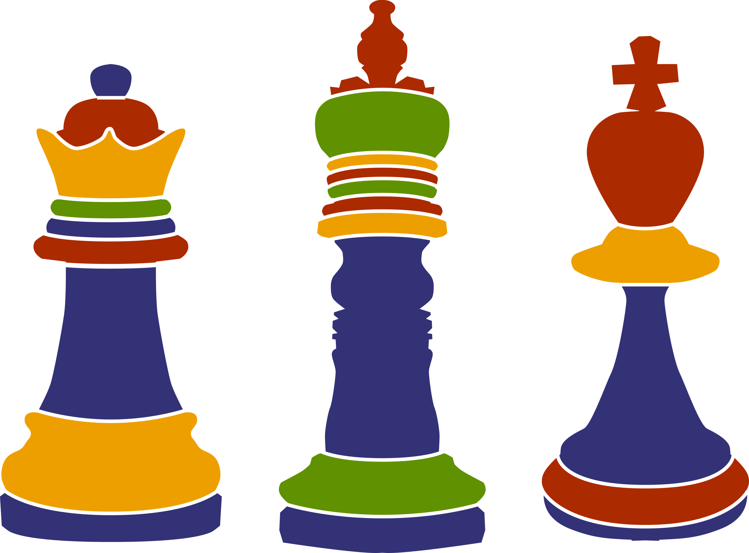 3 clipart kings. Chess big image png
