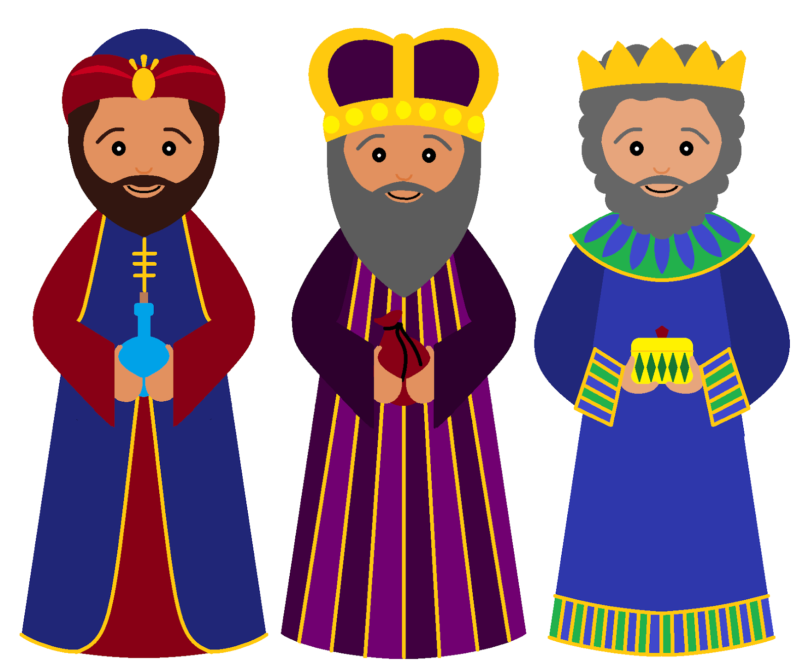 3 clipart kings. Free three wise men
