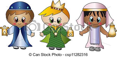 3 clipart kings. Three csp banner royalty free library