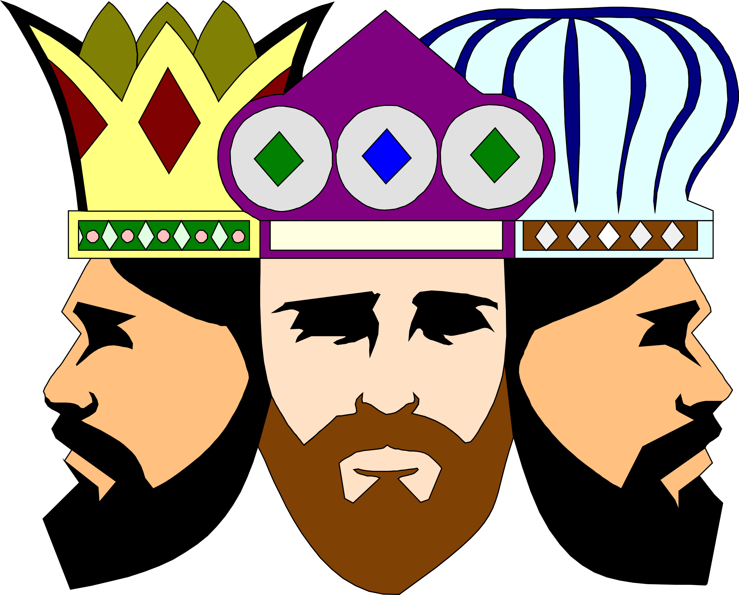 3 clipart kings. Big image png