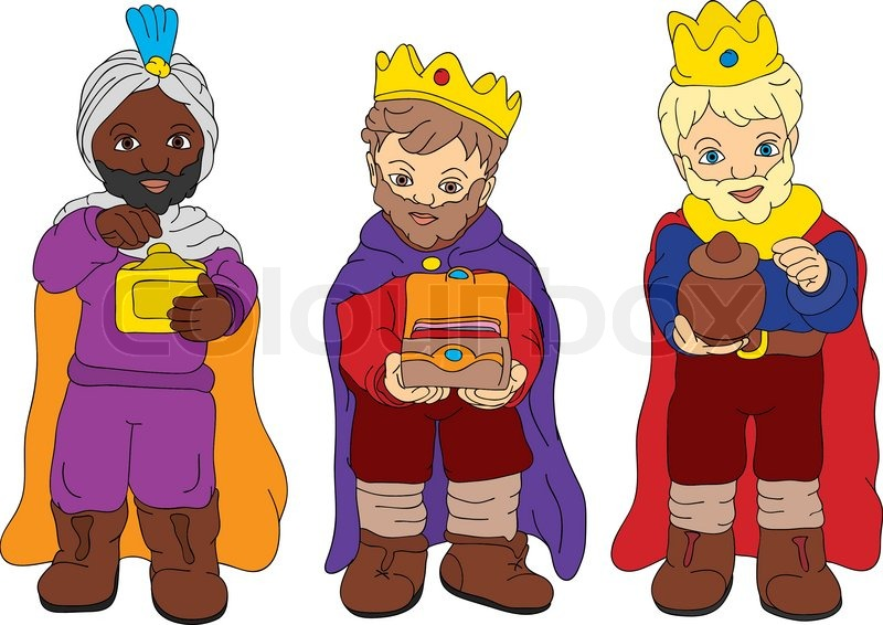 Vector three isolated on. 3 clipart kings png free library