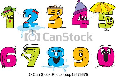Happy colorful numbers from. 3 clipart number 0 banner download