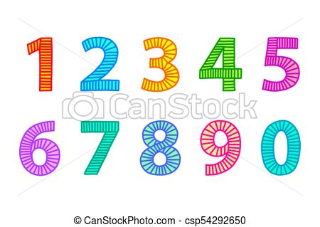 3 clipart number 0. Multi colored freehand drawn transparent