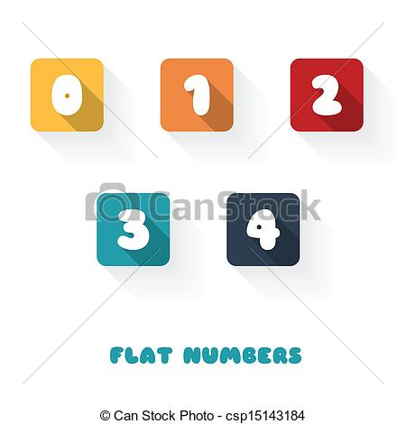3 clipart number 0.  flat design numbers image black and white download