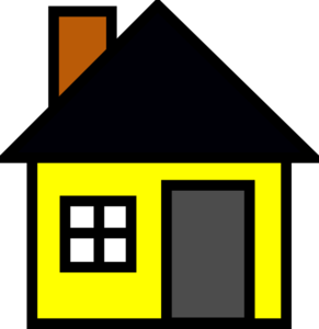 vector roof yellow house