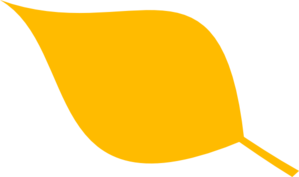 3 clipart yellow. Leaf simple clip art