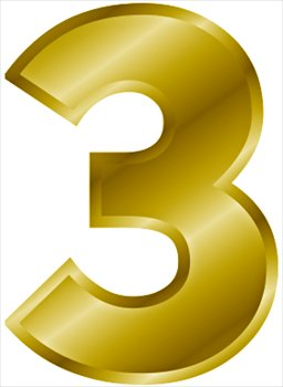 3 clipart yellow. Number cilpart surprising free jpg free library