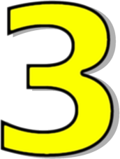 3 clipart yellow. Number clip art download