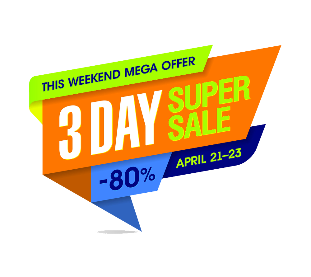 3 day sale png. Discount banners peoplepng com