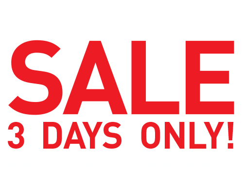 3 day sale png. Xu town hall