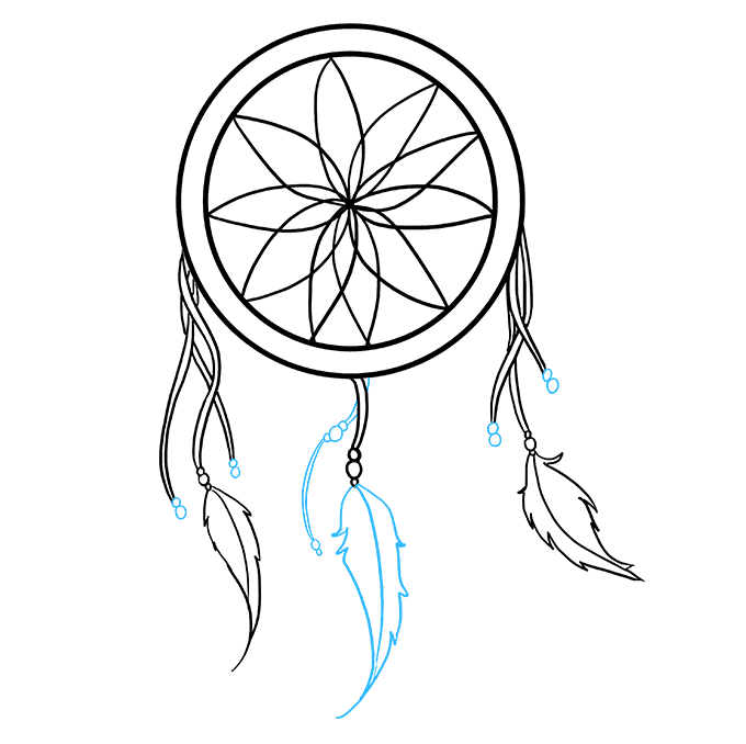 3 drawing dream catcher. How to draw a