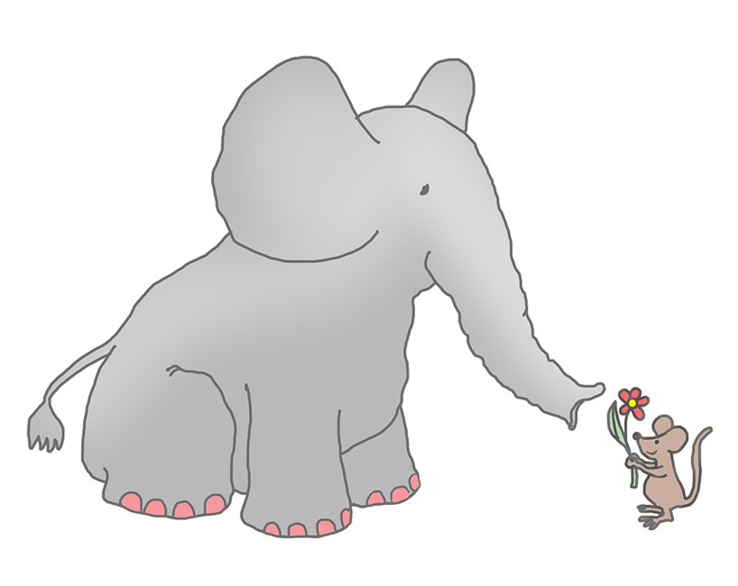 Drawing elephants adorable. Mice svg free