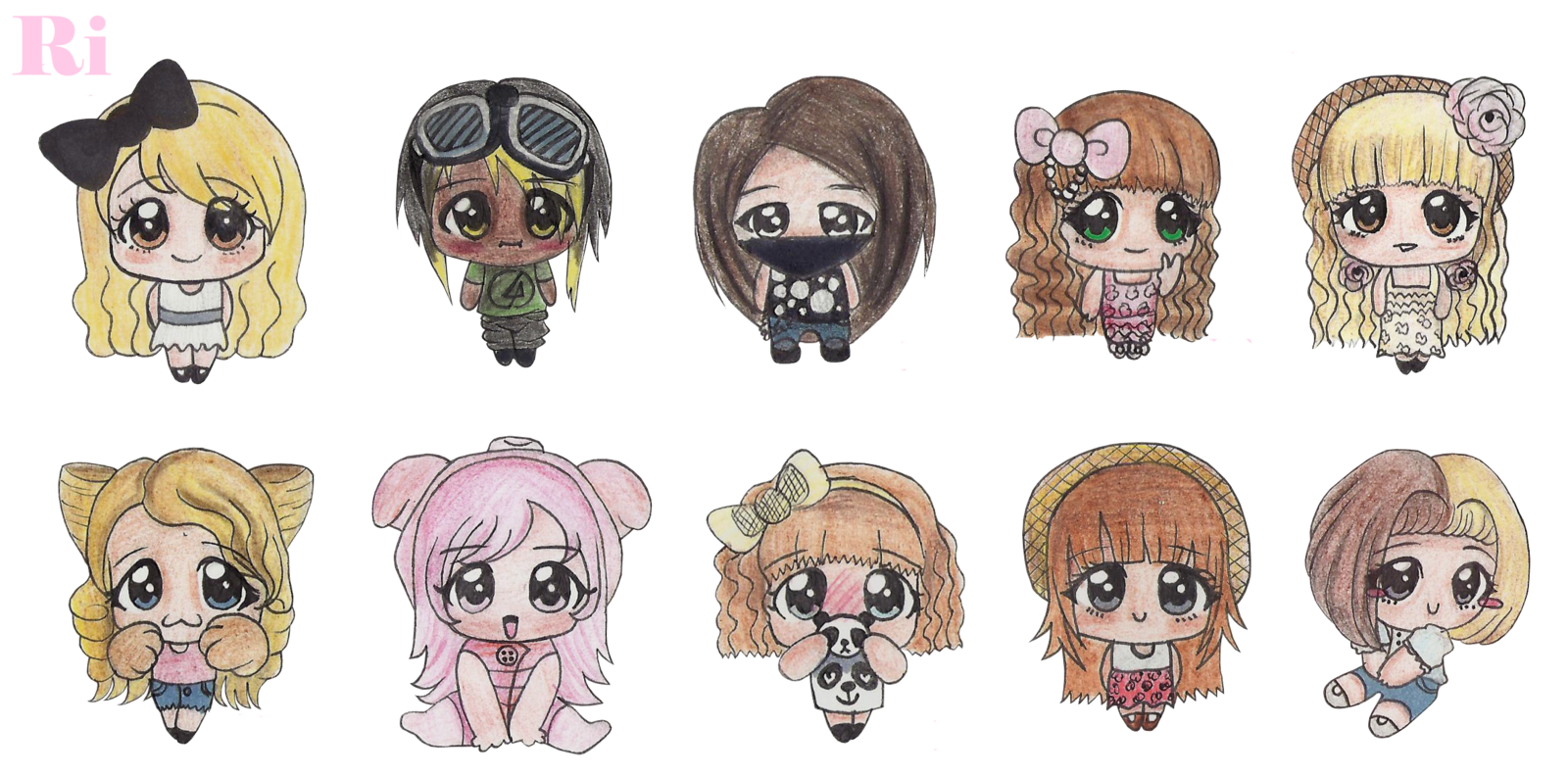 3 drawing friend. My chibi friends and