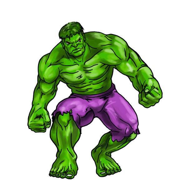 3 drawing hulk. Clip art how to