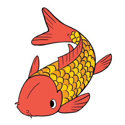 Geometrical drawing koi fish. Easy drawings how to