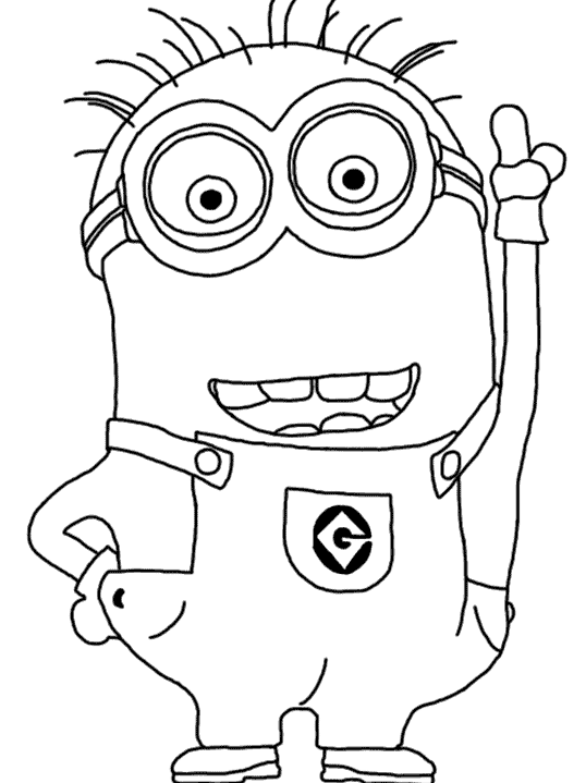 3 drawing minions. Minion coloring pages party