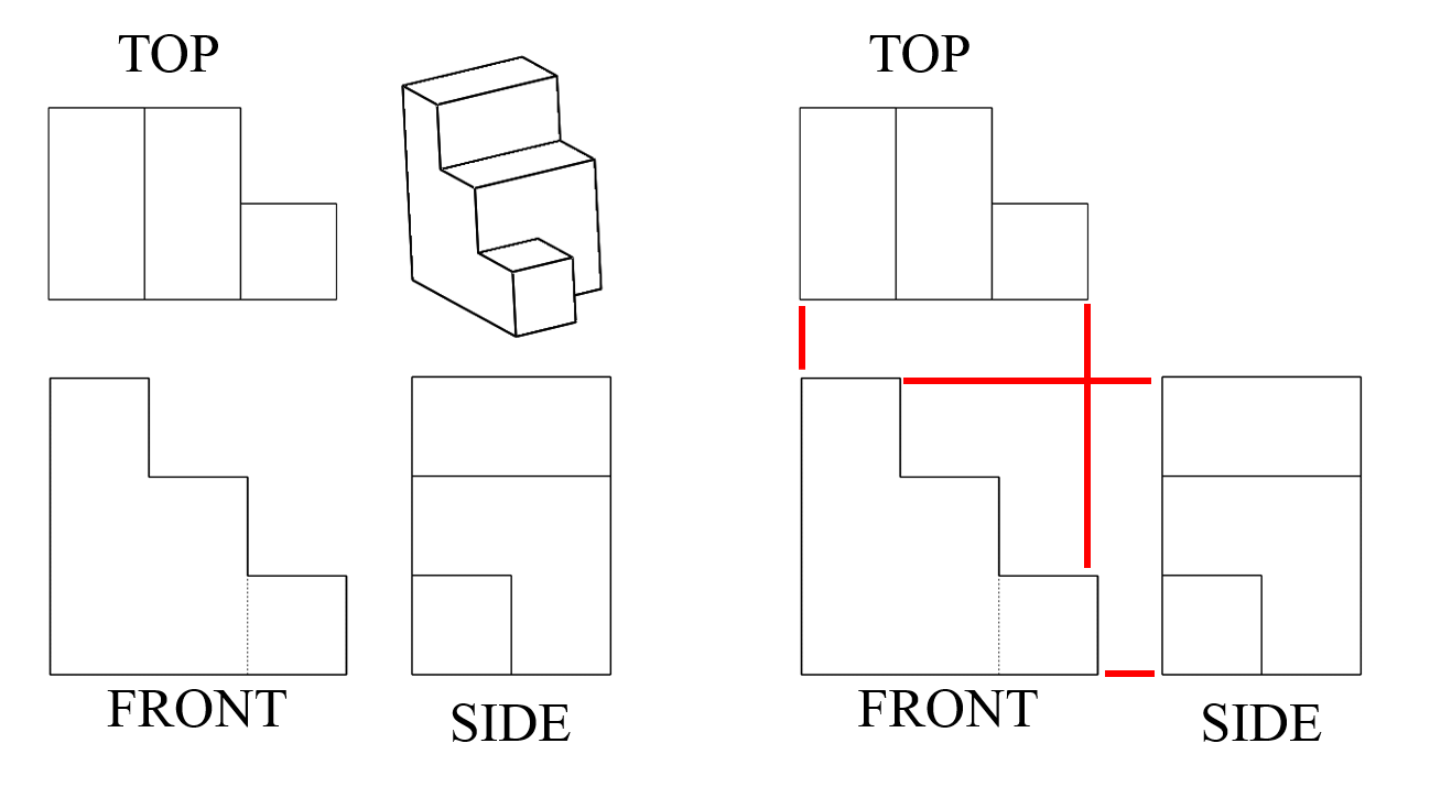 drawing quiz orthographic