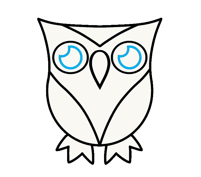 3 drawing owl. How to draw a