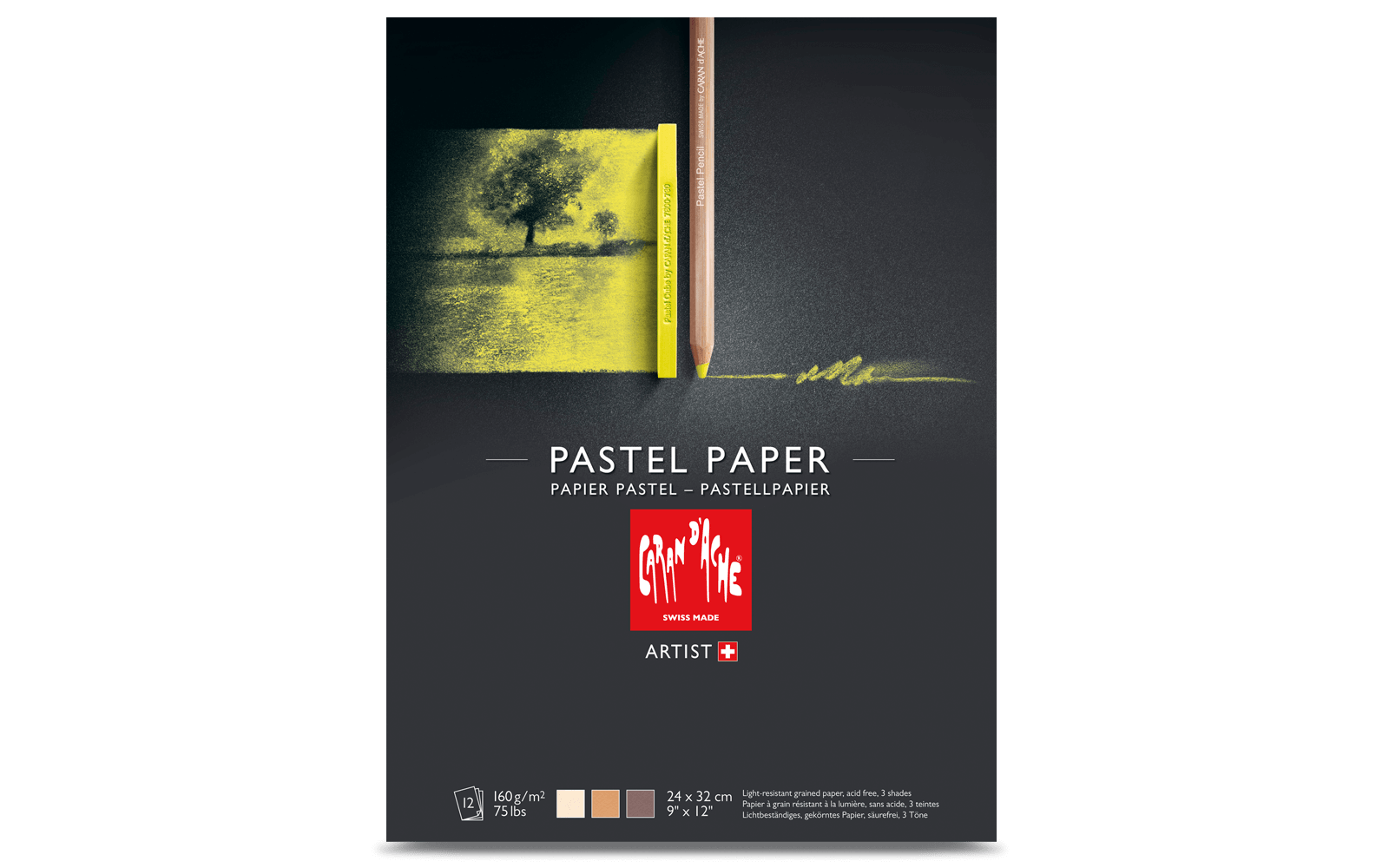 Pastel pad tinted paper. Pastels drawing simple png free library