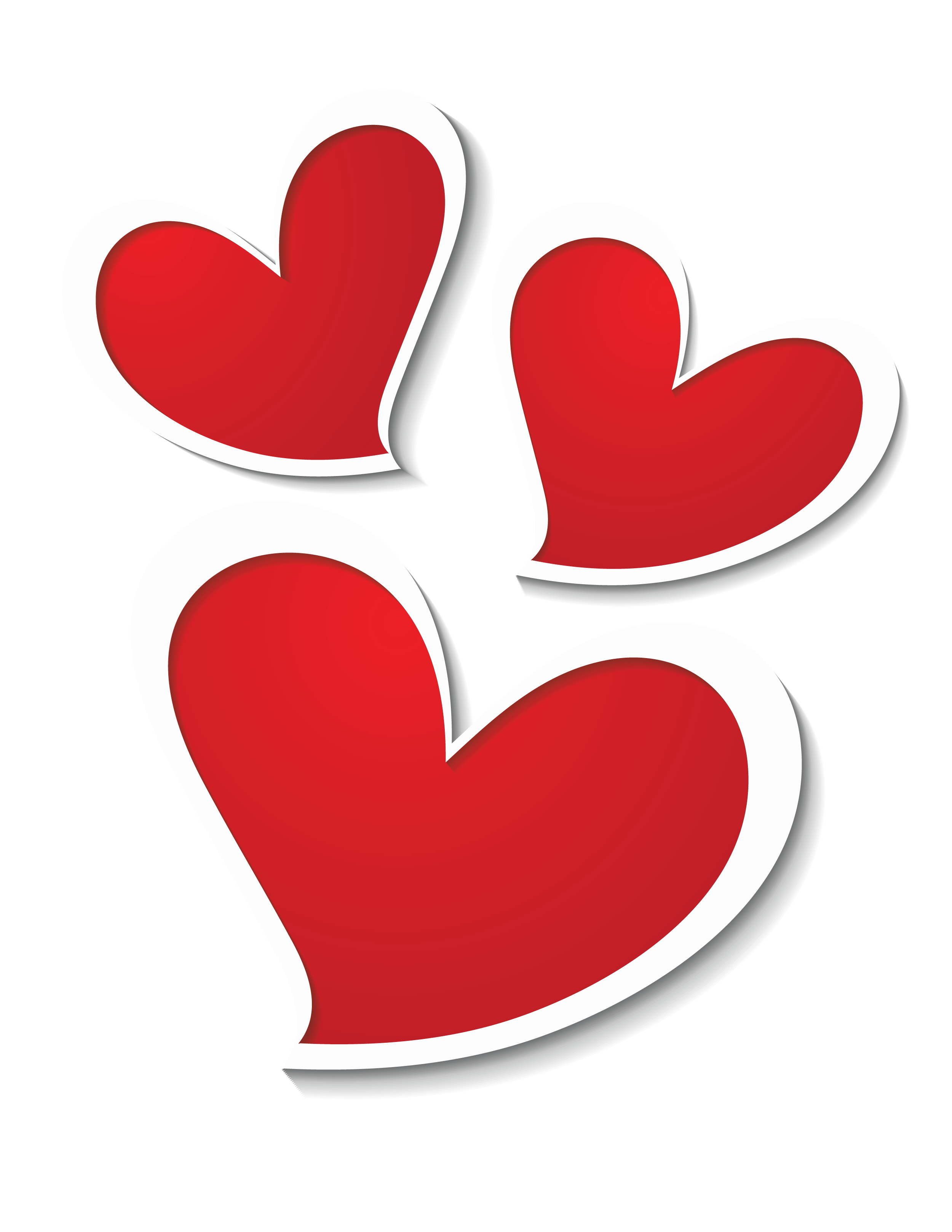 3 hearts png. Three decor clipart picture