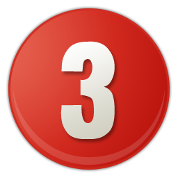 Number 3 icon png. Free download sky blue
