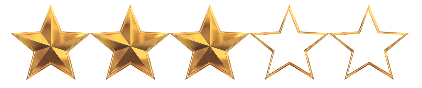 The gamers noob star. 3 out of 5 stars png vector free download