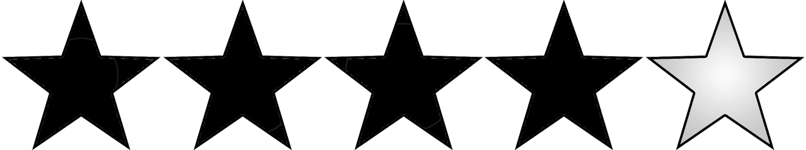 3 out of 5 stars png. Black sticky amazing i vector transparent stock