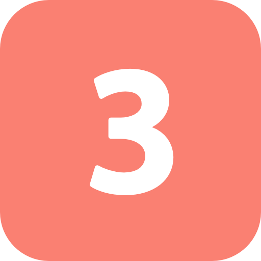 Number 3 icon png. Images free download