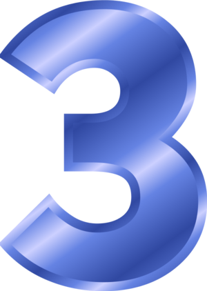 3 png images. Number