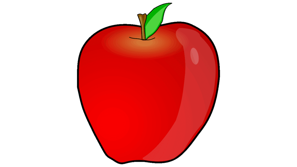 Chalk apple png. For school black and