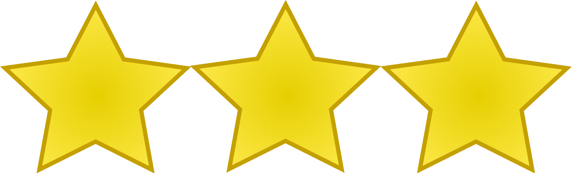 3 star png. File emblem stars svg clipart black and white download