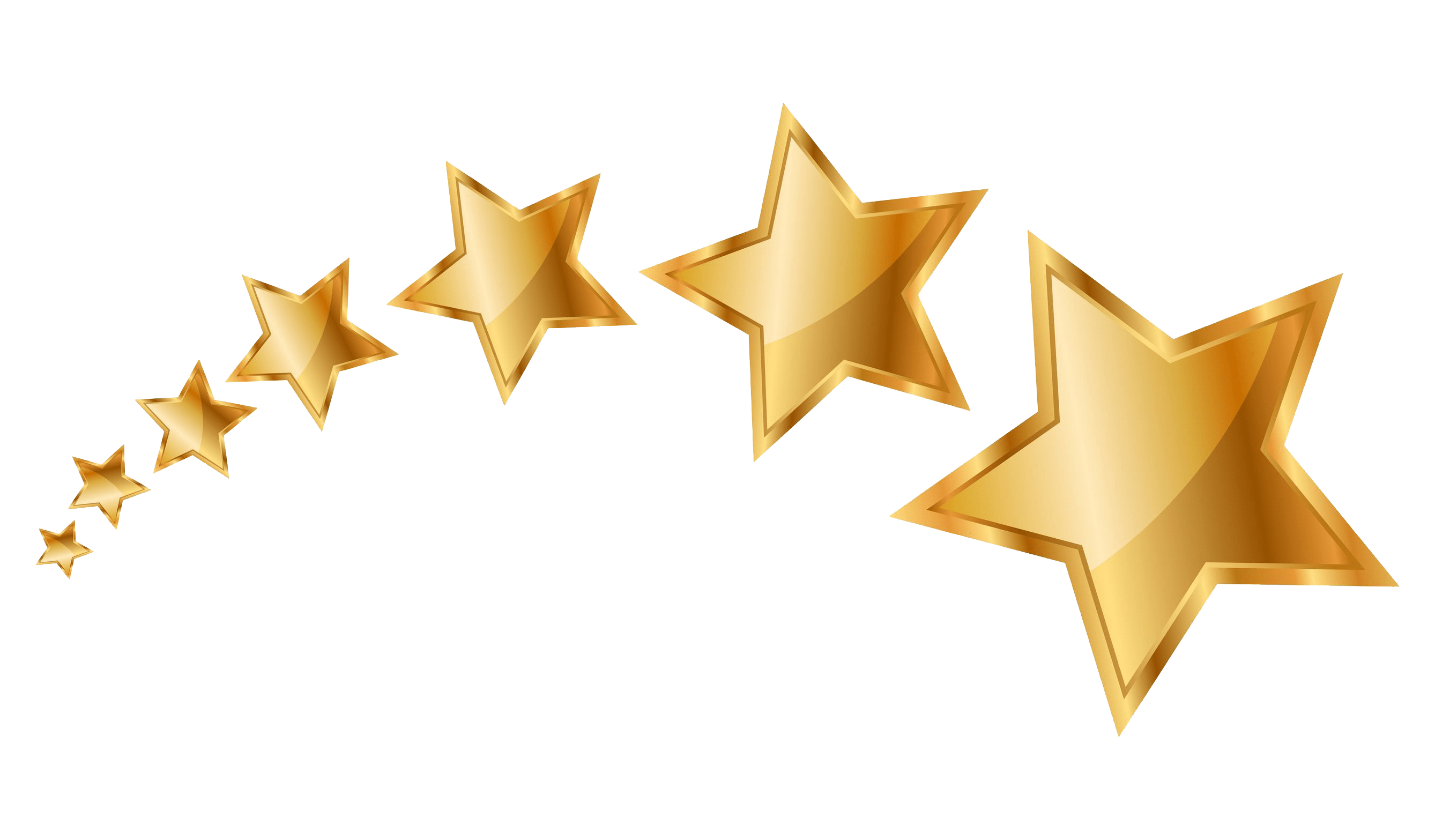 5 gold stars png. Voting transparent stickpng series