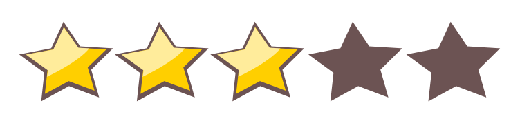 3 stars png. Voting transparent stickpng