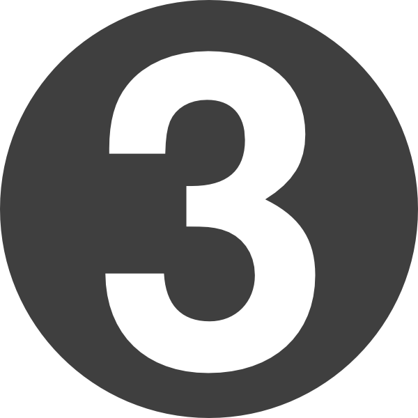 3 vector. Number design clip art