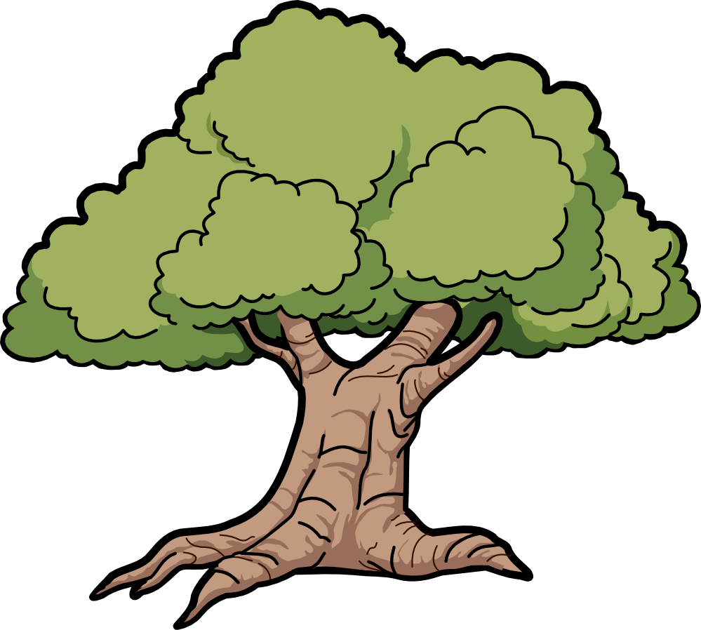 3 vector deciduous forest. Clipart at getdrawings com