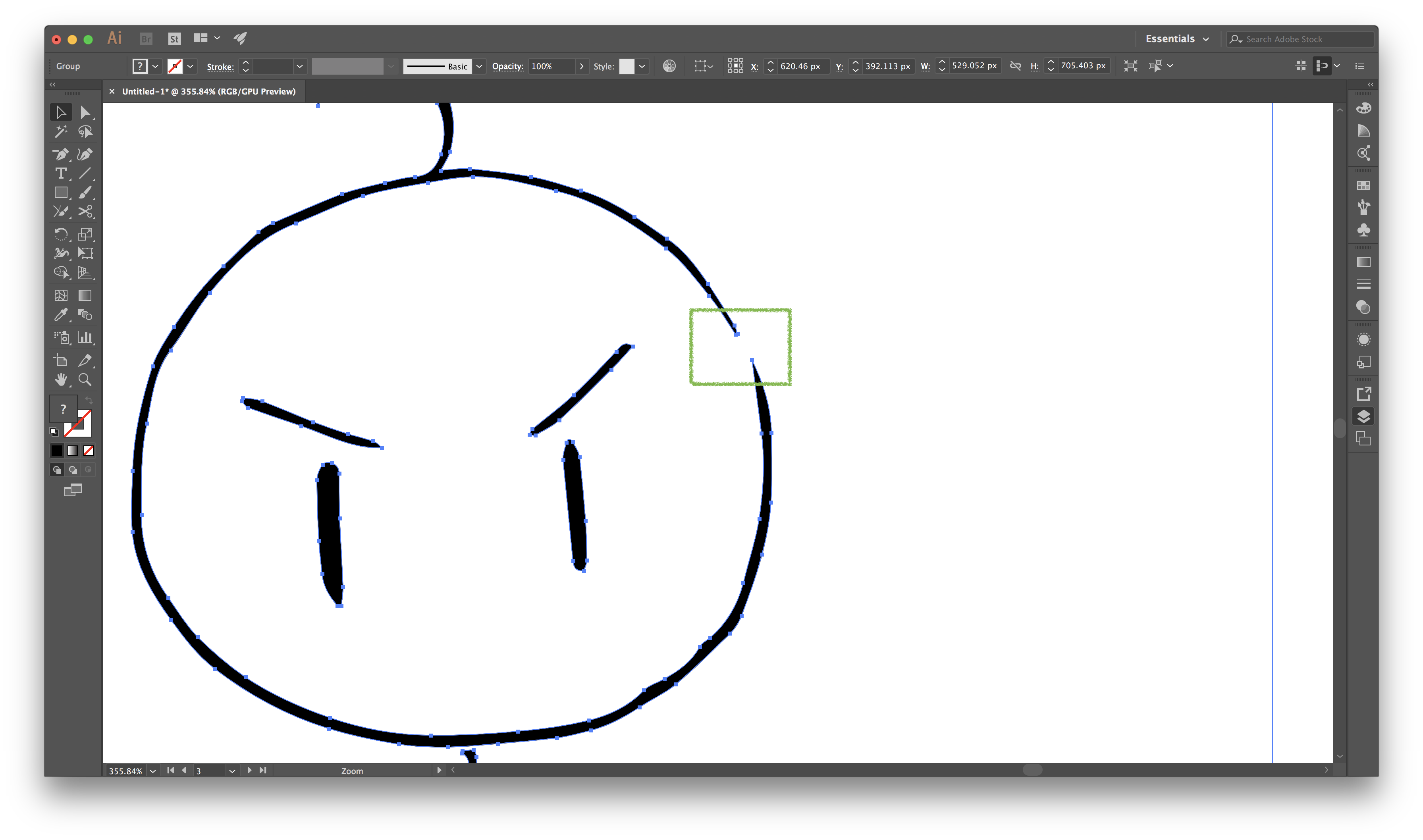 3 vector illustrator. How to join the