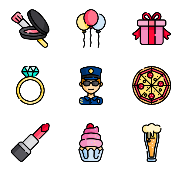 bachelorette party icon. 3 vector illustrator jpg freeuse download