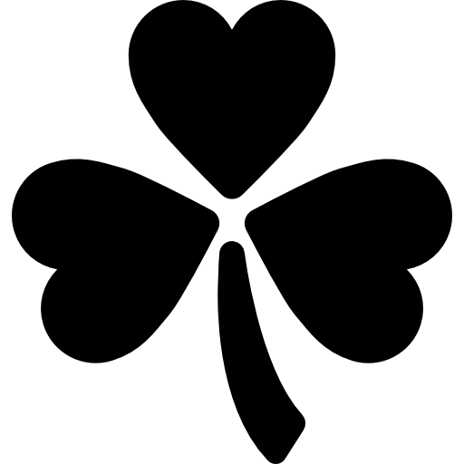 3 vector leaf clover. Three free nature icons