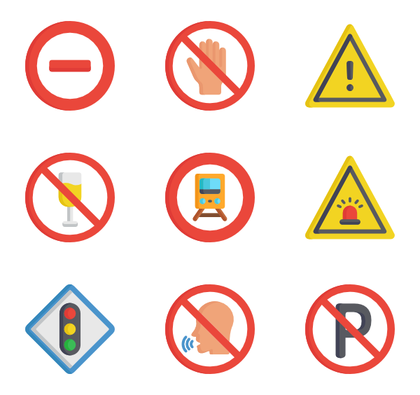 3 vector sign. Stop icon packs