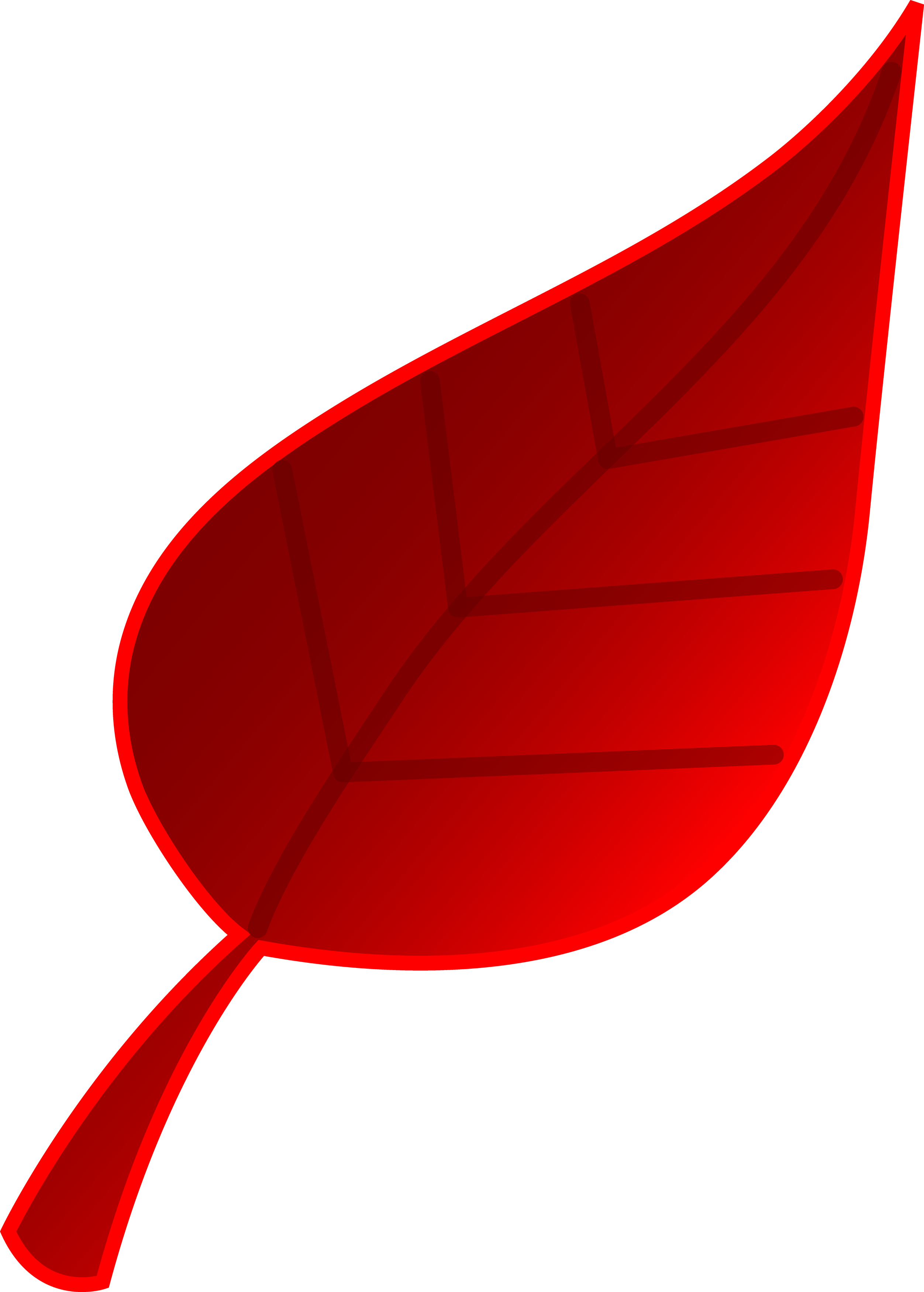 Vector nature clip art. Red tree leaf free