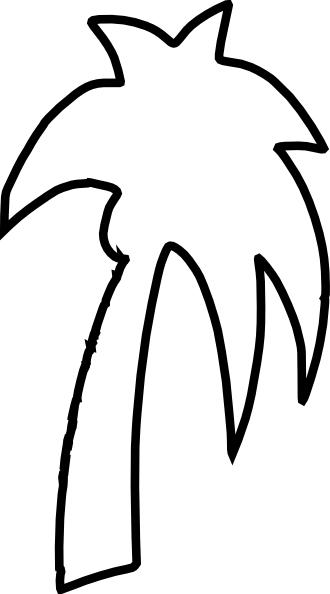 Vector outline tree. Palm clip art at