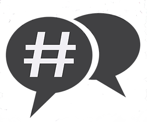 300 x 250 picture of hashtag png. Presenting a webinar build