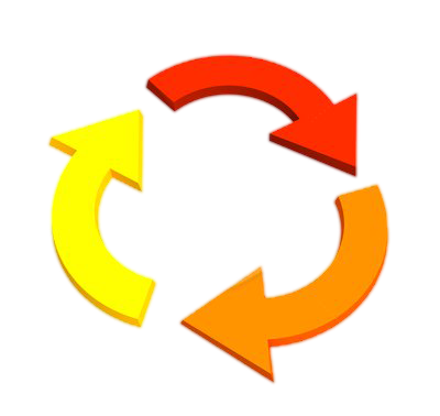 3d arrows png. Image d showing recycling