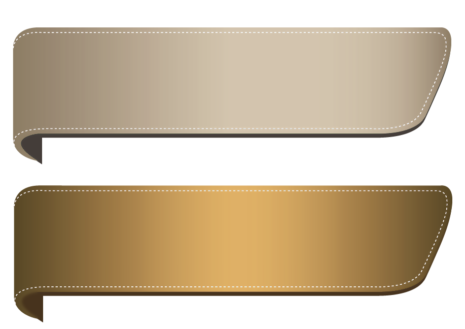 3d banner png. Brown transparent banners set