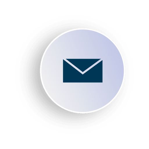 3d circle png. Email icon in d