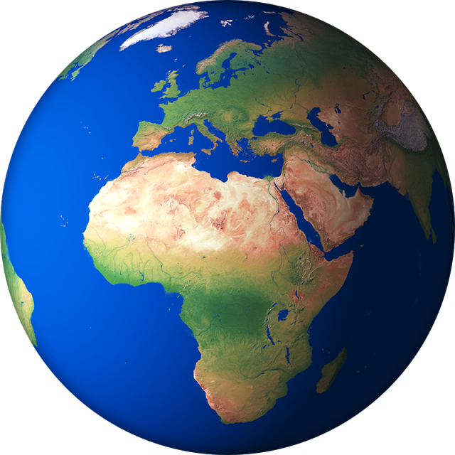 3d earth png. D render globe