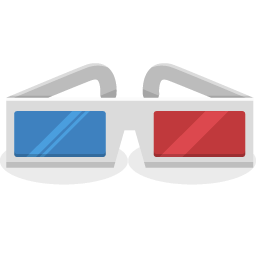 3d glasses png. D icon cinema iconset