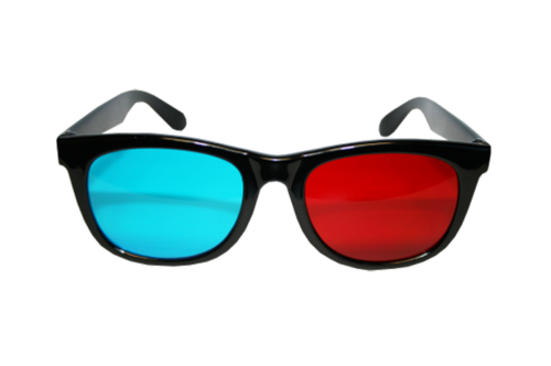 3d glasses png. Red cyan d g