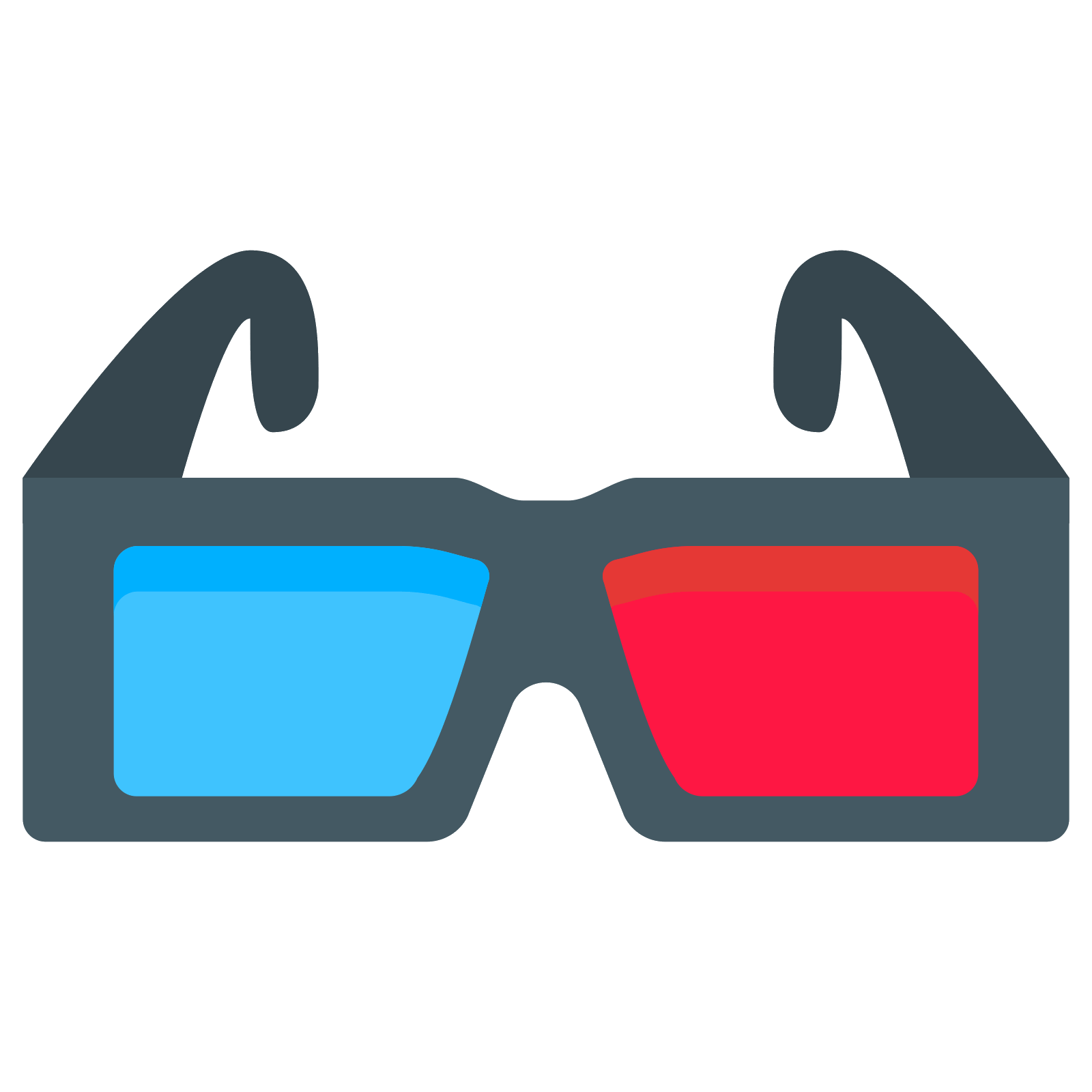 3d glasses png. D icon free